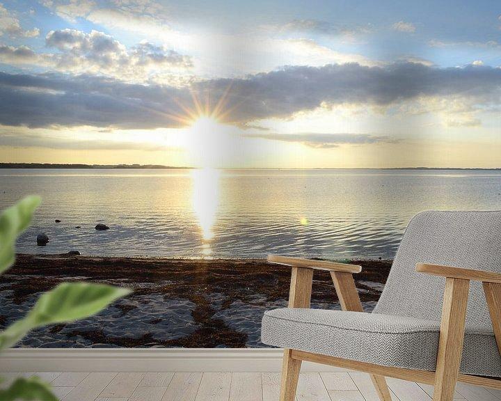 Sfeerimpressie behang: zonsondergang in denemarken  van tiny brok