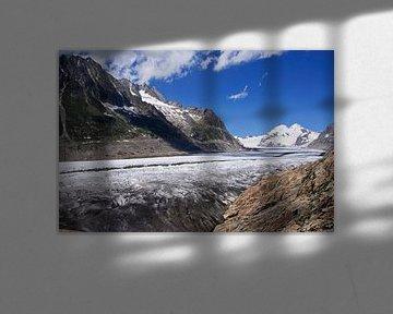 Aletschgletsjer in Zwitserland van Barbara Brolsma