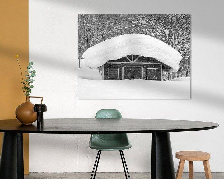 Sfeerimpressie: Dik pak sneeuw in Japan van Menno Boermans