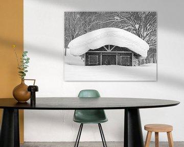 Maison avec neige au Japon