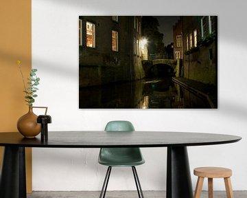 Binnendieze in den Bosch bij nacht van Maurice Welling