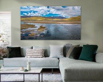 Lac de montagne sur le plateau des Andes, au Pérou sur Rietje Bulthuis