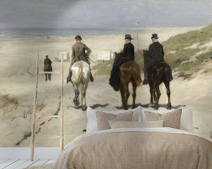 Impression: Promenade matinale le long de la plage, Anton Mauve