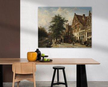 Der Zuiderhavendijk in Enkhuizen - Cornelis Springer