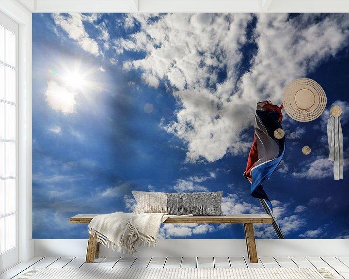 Sfeerimpressie behang: Dutch Delight van Cho Tang