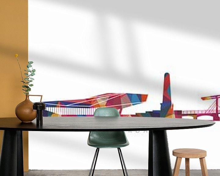 Sfeerimpressie behang: Amsterdam design city van Harry Hadders