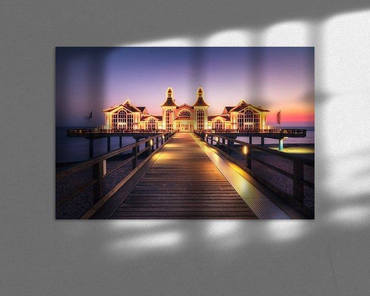 Sfeerimpressie: Aangestoken pier (Sellin / Ruegen) van Dirk Wiemer