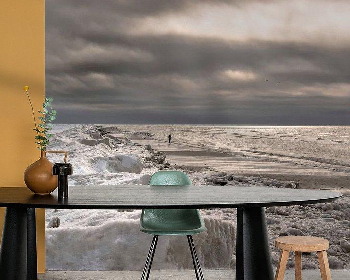 Beispiel fototapete: Winter am Meer von Annette Sturm