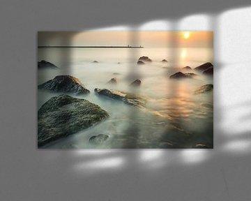Het strand van Scheveningen - 2 van Damien Franscoise