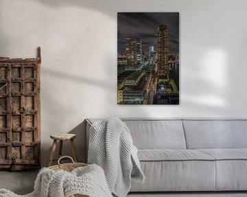 Manhattan @ the Maas - Rotterdam Skyline (5) van Tux Photography