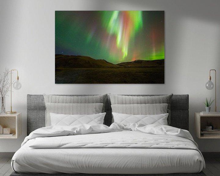 Sfeerimpressie: Noorderlicht (Aurora Borealis) in IJsland van Anton de Zeeuw