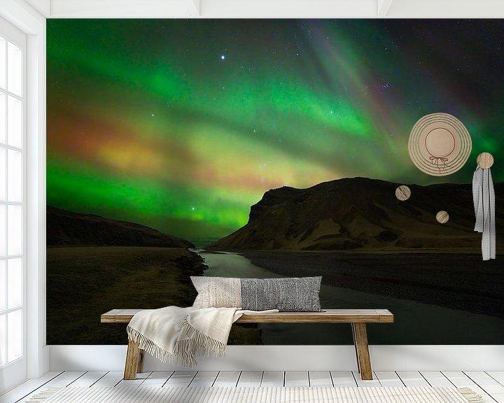 Impression: Northern Lights (aurores boréales) en Islande sur Anton de Zeeuw