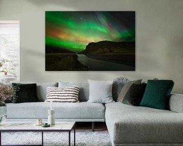Noorderlicht (Aurora Borealis) in IJsland van Anton de Zeeuw