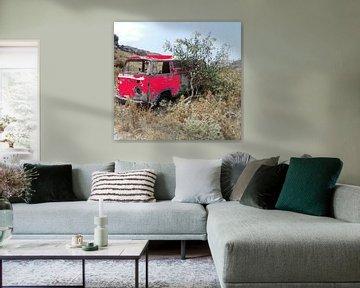 Volkswagenbusje rood van Nico den Hartog