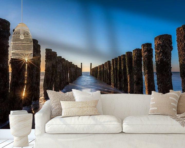Sfeerimpressie behang: Zeewering in het zonnetje gezet van Ton Drijfhamer