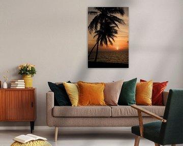 Tropischen Sonnenuntergang von Margot van den Berg
