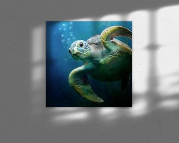 Bubbles die Meeresschildkröte von Silvio Schoisswohl