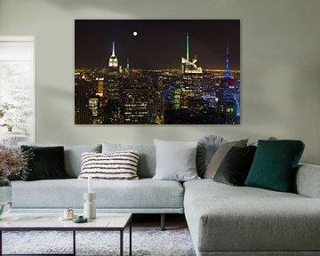 New York vanaf Top of the Rock in kleur