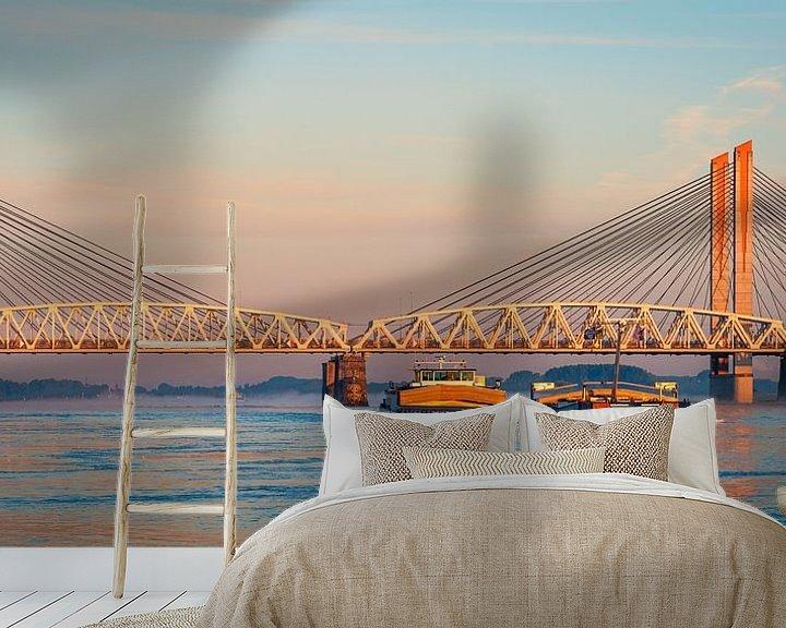 Beispiel fototapete: Panorama: Schip op de Waal von John Verbruggen