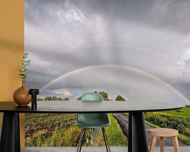 Beispiel fototapete: Regenbogen über den Polder. von John Verbruggen