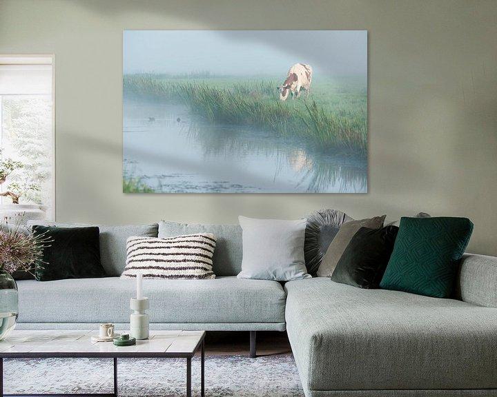 Sfeerimpressie: Koe in de mist van John Verbruggen