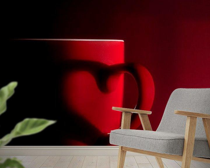 Impression: serie Simply Red, titel Schaduw hart (rode koffiekop) sur Kristian Hoekman