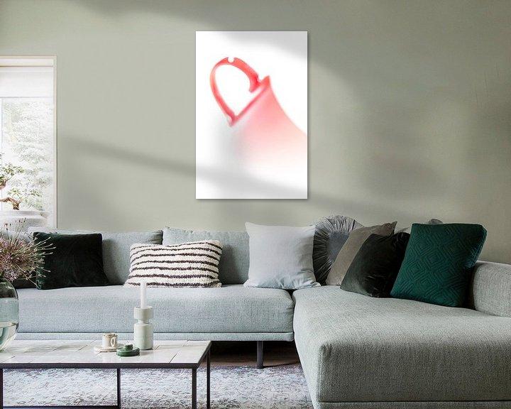 Impression: serie Simply Red, titel Vaag (rode koffiekop) sur Kristian Hoekman