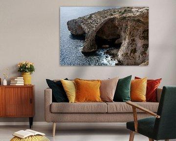 rots op het eiland malta
