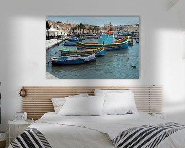 boten in de haven op malta