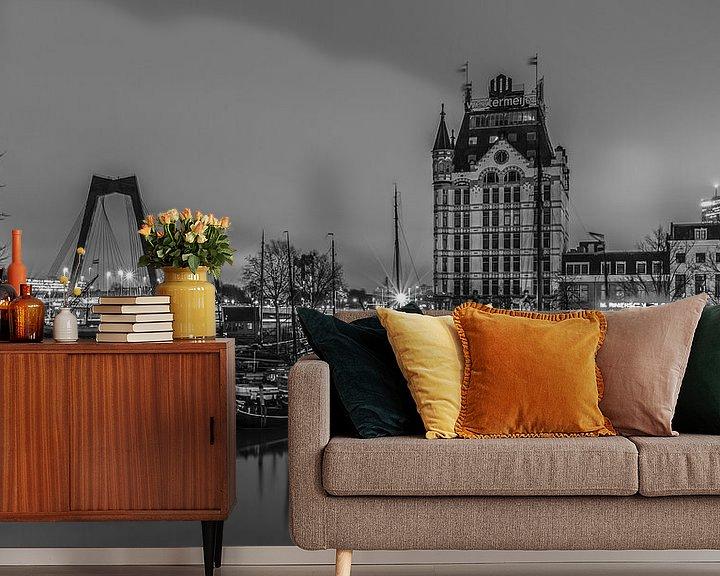 Sfeerimpressie behang: De Oudehaven en het Witte Huis in Rotterdam van MS Fotografie | Marc van der Stelt