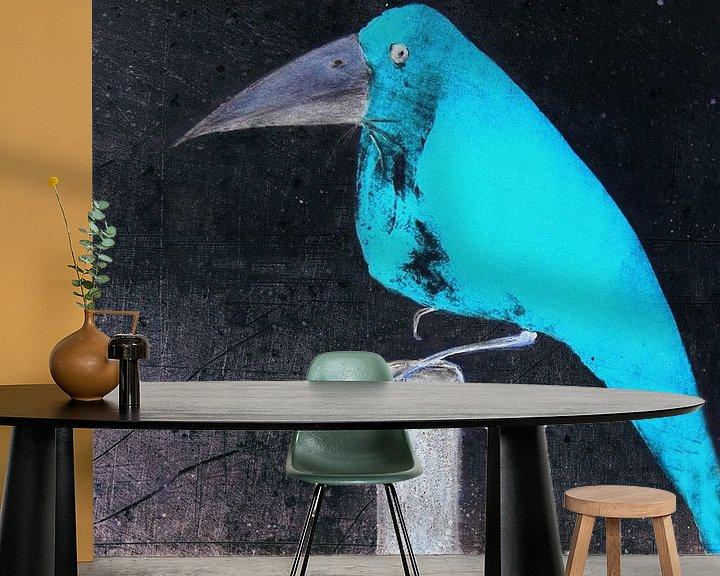 Beispiel fototapete: Der blaue Vogel von Christine Nöhmeier