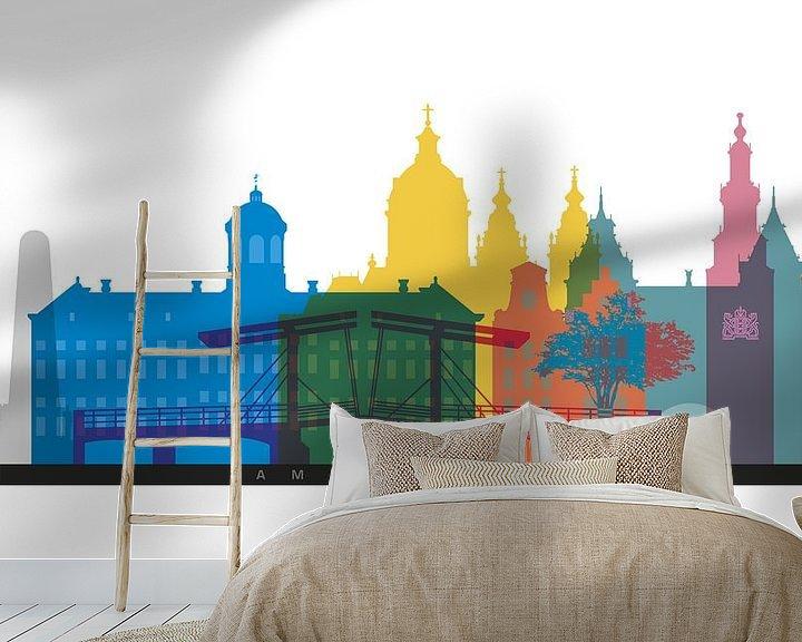 Sfeerimpressie behang: Amsterdam in a nutshell van Harry Hadders