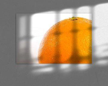 Sinaasappel van dichtbij van Hein Fleuren