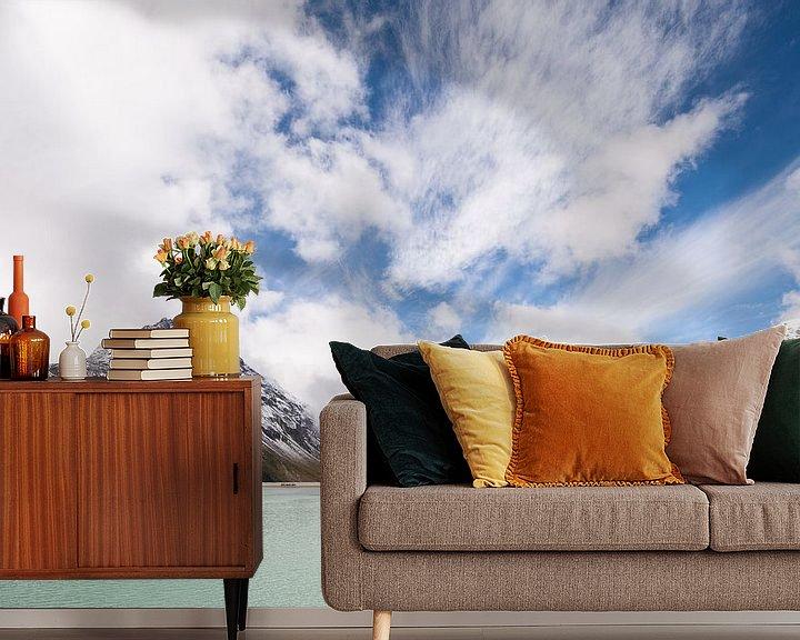 Sfeerimpressie behang: Silvretta hochalpenstrasse in Oostenrijk - 1  van Damien Franscoise