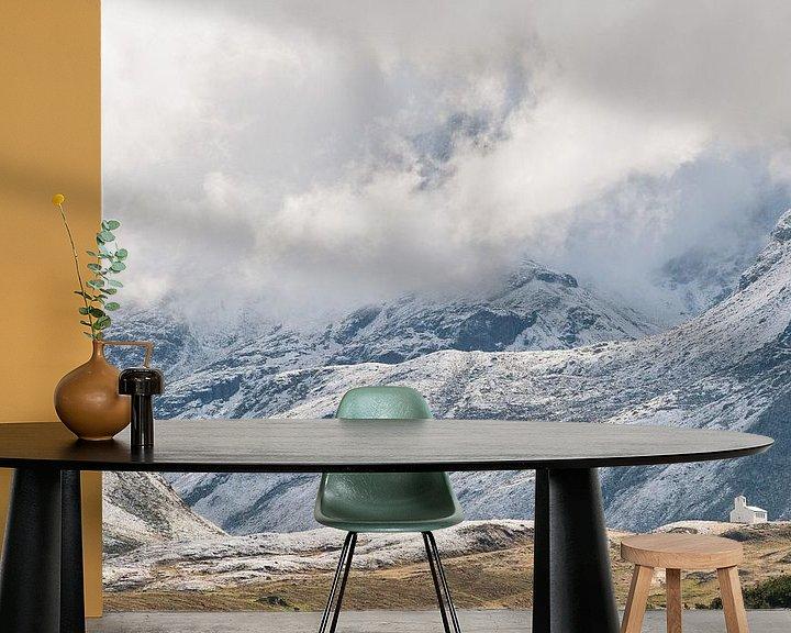 Sfeerimpressie behang: Silvretta hochalpenstrasse in Oostenrijk - 2 van Damien Franscoise