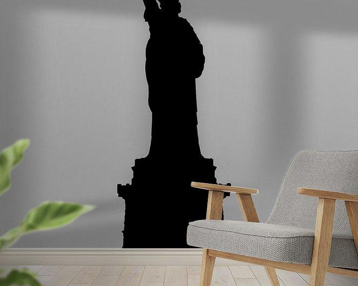 Sfeerimpressie behang: Vrijheidsbeeld van Ton de Koning