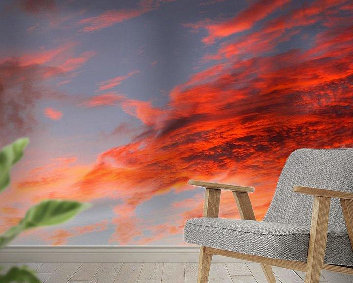 Sfeerimpressie behang: Avondlicht van Inge Hogenbijl