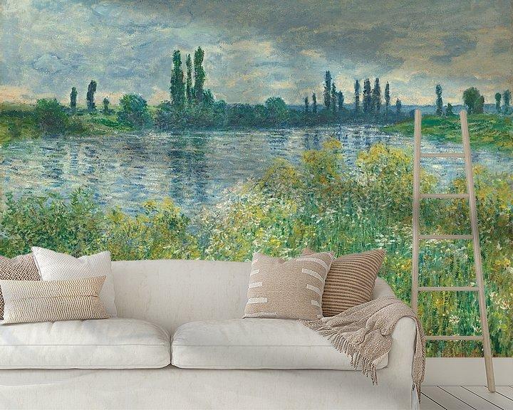 Beispiel fototapete: Die Seine bei Vétheuil - Claude Monet