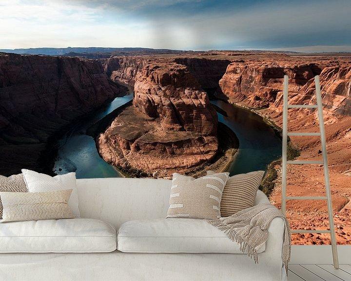 Sfeerimpressie behang: Horseshoe Bend, Arizona van Wim Slootweg