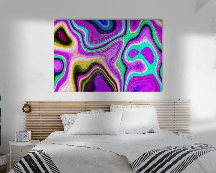 Sfeerimpressie: Colored Fractal 4 van Gerrit Zomerman
