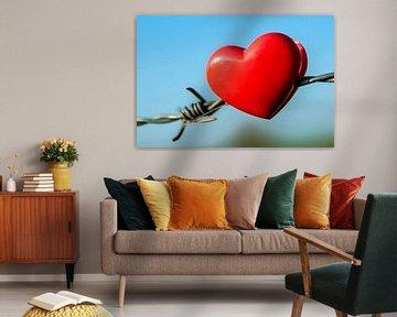 Heart on the fence van Norbert Sülzner