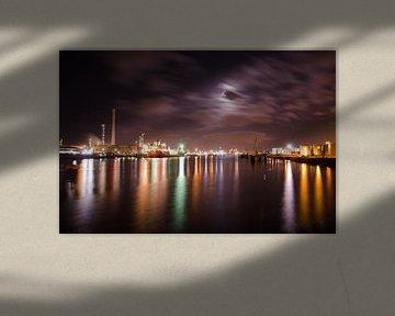 Nachtzicht tweede petroleumhaven von Remco Swiers