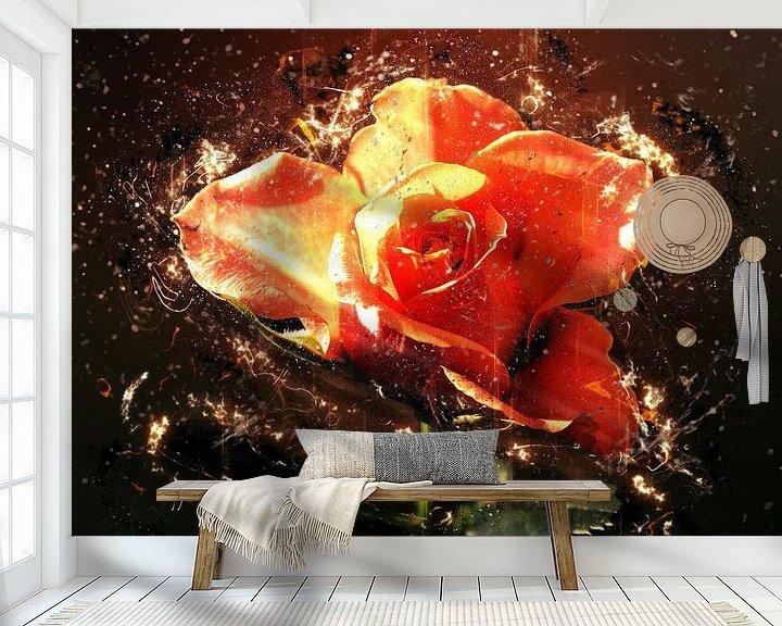 Beispiel fototapete: Summer rose in love von Dagmar Marina