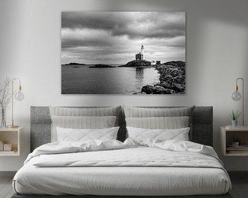 Vuurtoren (2 zwart wit) van Joris Louwes