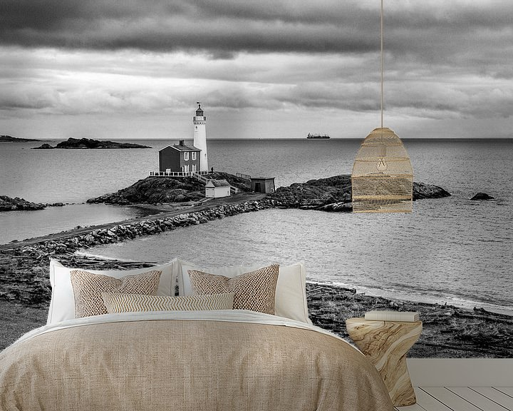 Sfeerimpressie behang: Vuurtoren (1 zwart wit) van Joris Louwes