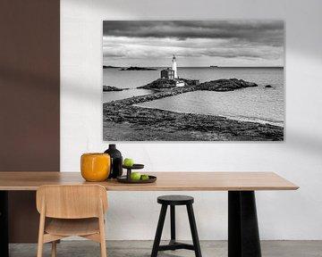 Vuurtoren (1 zwart wit) van Joris Louwes
