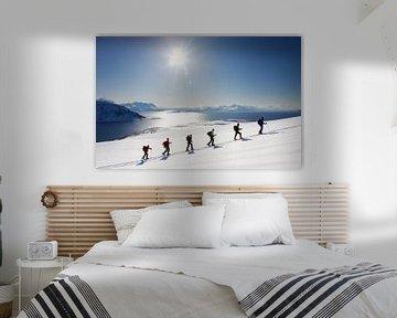 Ski touring in der Lyngen Alpen von Norwegen sur Menno Boermans
