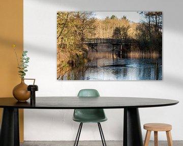 houten bruggetje over een meertje bij hilversum van Compuinfoto .