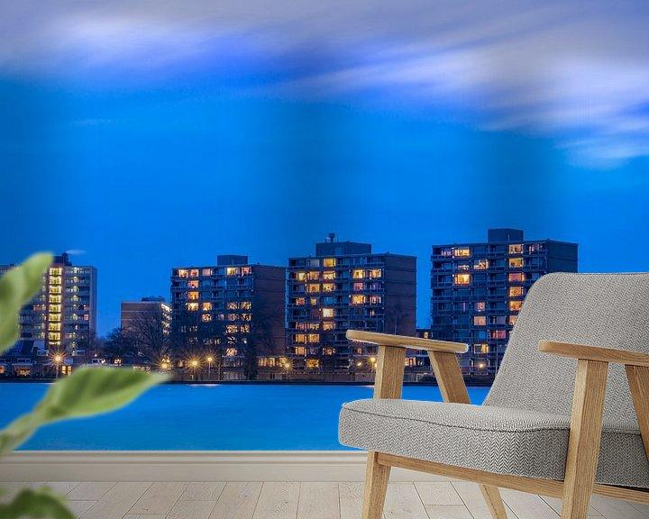 Beispiel fototapete: Abend fällt über Zegerplas bei Alphen aan den Rijn von Rob IJsselstein