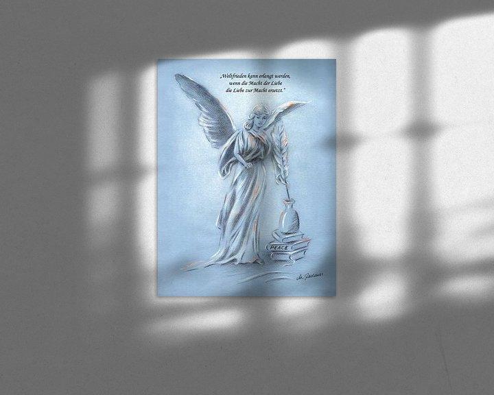 Sfeerimpressie: Engel van de Vrede - Handbeschilderde engel  van Marita Zacharias